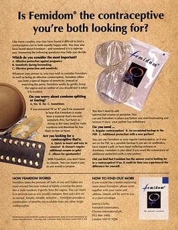 2000s UK Femidom Magazine Advert