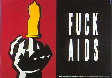 1990s UK HIV Campaigns Poster