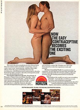 1970s USA Horizon Condoms Magazine Advert