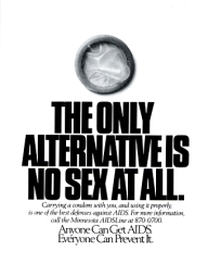1980s USA Minnesota AIDS Line Magazine Advert