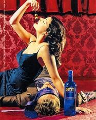 1990s USA SKYY vodka Magazine Advert
