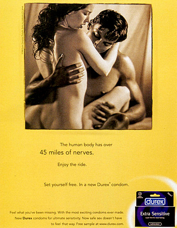 1990s USA Durex Magazine Advert